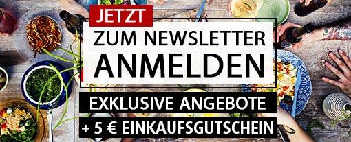 Newsletter bestellen und 5 Euro Rabatt erhalten