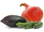 Auberginen, Zucchini & Kürbisse