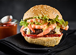 Surf and Turf Burger mit Sauce Béarnaise