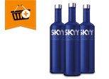 Kaufe mindestens eine Flasche Skyy Vodka und spare € 2,50